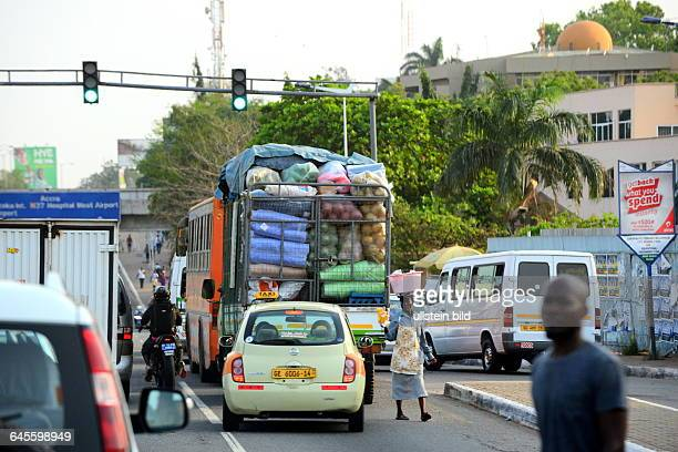 street scene in Accra Rush hour