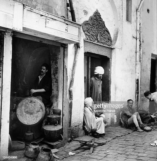 Street scene in Algiers casbah