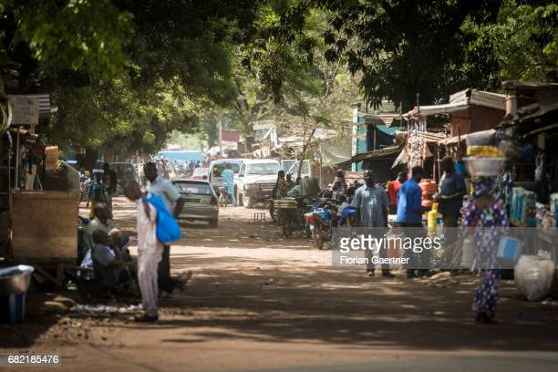 Street scene in Bamako on April 07 2017 in Bamako Mali