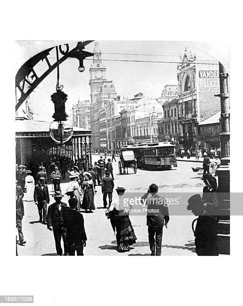 Street scene in Bourke Street looking west in Melbourne Australia circa 1903