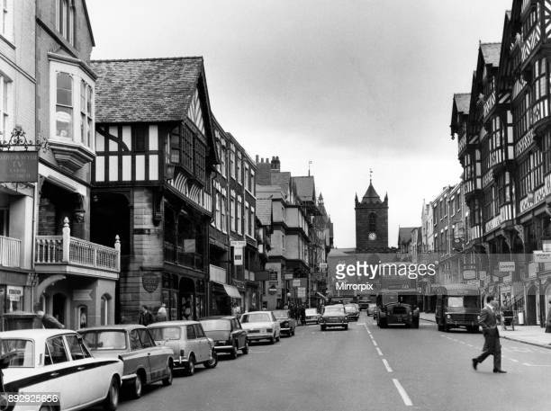 Street scene in Chester Cheshire 11th July 1969