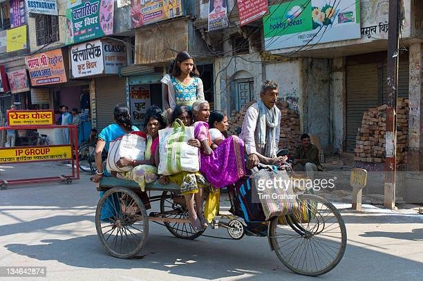 Street scene in city of Varanasi Benares Northern India