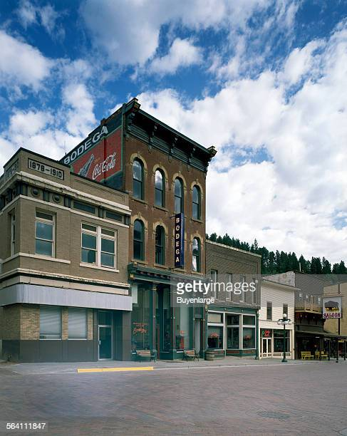 Street scene in Deadwood South Dakota a town that underwent extensive rehabilitation using money raised from casino proceeds