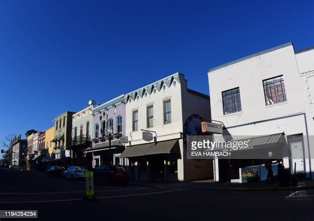 Street scene in downtown Culpeper Virginia a Second Amendment sancuary some 75 miles from Washington DC on January 16 2020 When Sheriff Scott Jenkins...