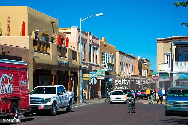Straße-Szene im der Innenstadt von Santa Fe