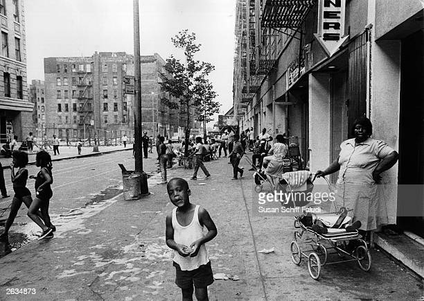 A street scene in Harlem New York City