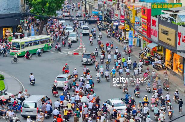 street scene in ho chi minh city, vietnam - ho chi minh city stock pictures, royalty-free photos & images