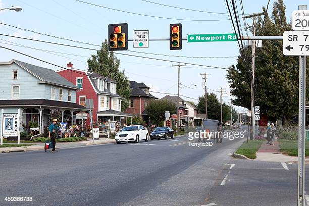 street scene in intercourse, pa - terryfic3d stock pictures, royalty-free photos & images
