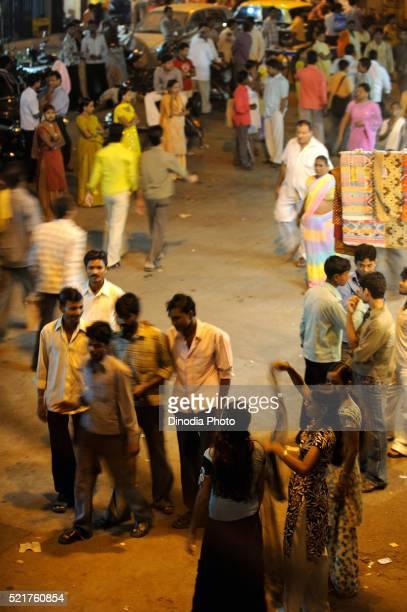 Street scene in kamathipura, Bombay Mumbai, Maharashtra, India