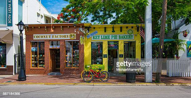 street scene in key west, florida - key west stock photos and pictures