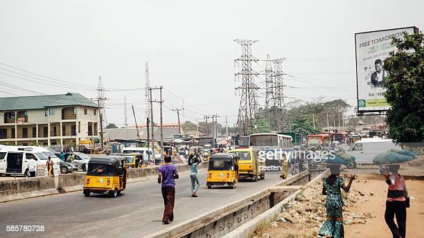 Street scene in Lagos, Nigeria.