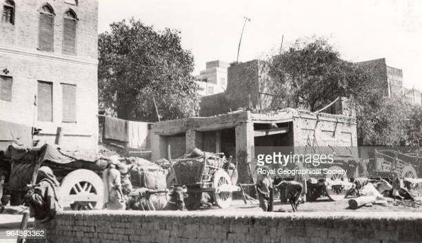 A Street scene in Lahore Pakistan 1930