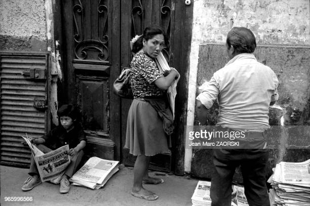 Street scene in Lima in Peru on March 17 1983