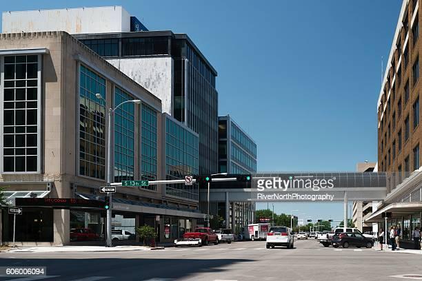 street scene in lincoln, nebraska - lincoln nebraska stock pictures, royalty-free photos & images