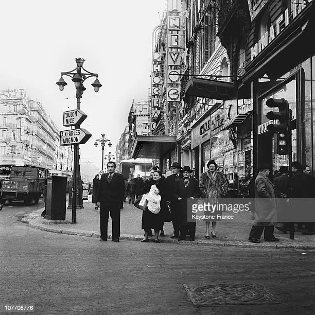 Street Scene In Marseille In 1956Street Scene In Marseille In 1956