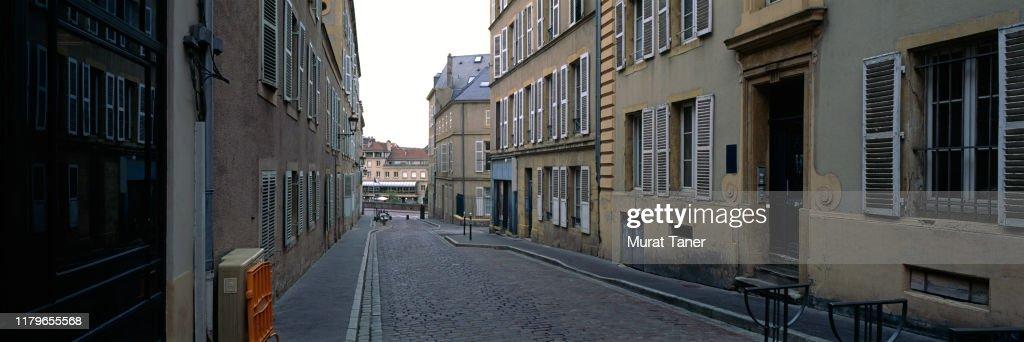Street scene in Metz : Stockfoto