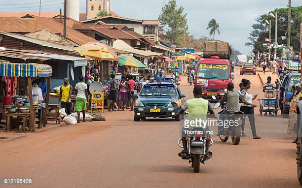 Street scene in Mim on September 07 2016 in Mim Ghana