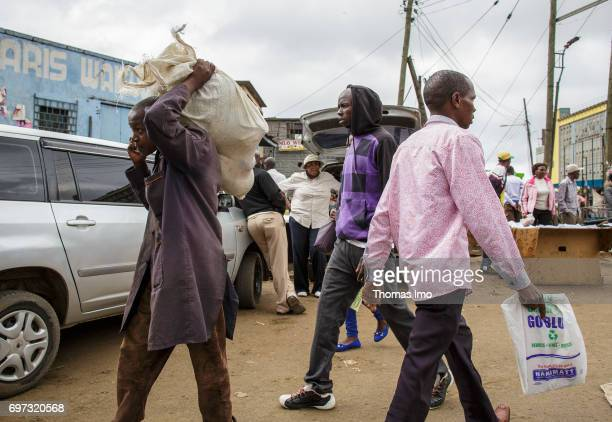 Street scene in Nairobi capital of Kenya on May 15 2017 in Nairobi Kenya