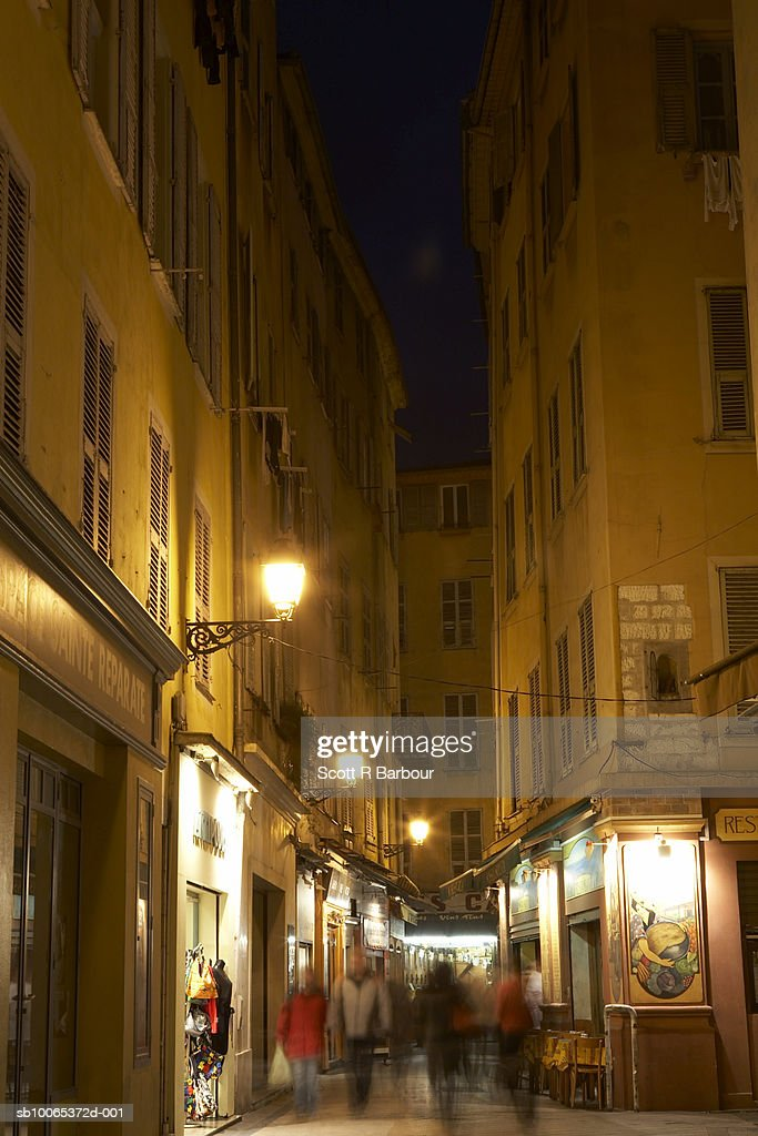 Street scene in Nice's old town - Vieux Nice.French Riviera, France : Foto stock