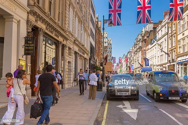 Street scene in Old Bond Street in London's Mayfair