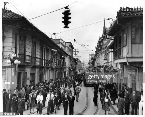 A street scene in older section of Caracas Venezuela