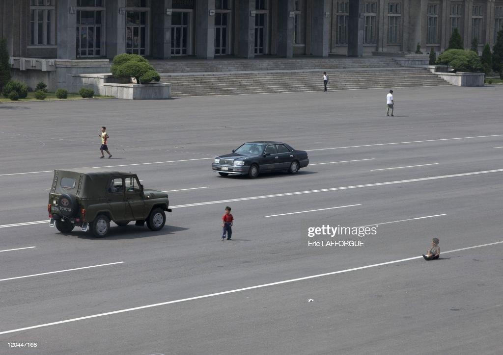Street Scene In Pyongyang, North Korea On September 09, 2008 - : News Photo
