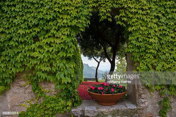 Street scene in Ravello a town above the Amalfi Coast Italy