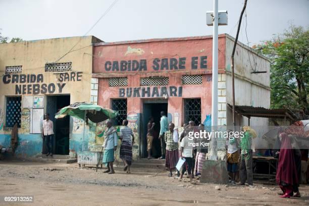 Street scene in Somalia on May 01 2017 in Baidoa Somalia