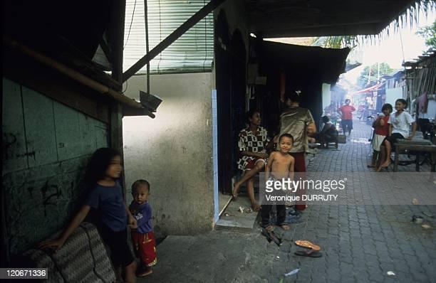 Street scene in Surabaya, Java island, Indonesia in 2005.