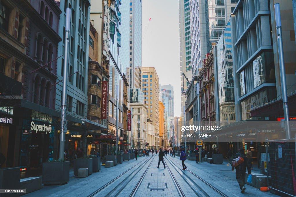 Street Scene in Sydney City | New South Wales | Australia : Stock Photo