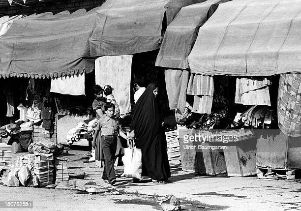 Street scene in the bazaar quarter of the Iraqi capital city Baghdad