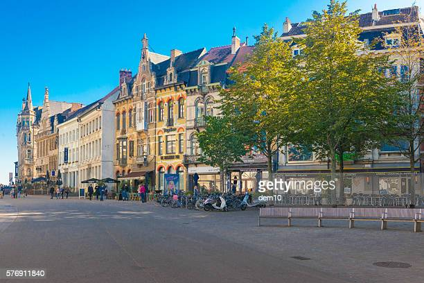 Street scene in the Belgium city of Ghent
