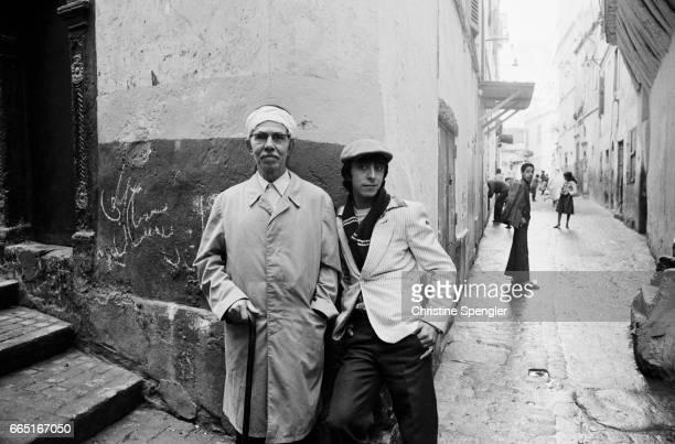 A street scene in the Casbah of Algiers