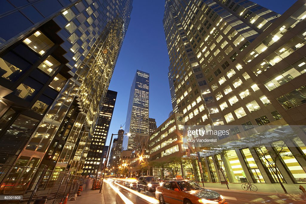 Street scene in the Financial District of Toronto. : Stock Photo