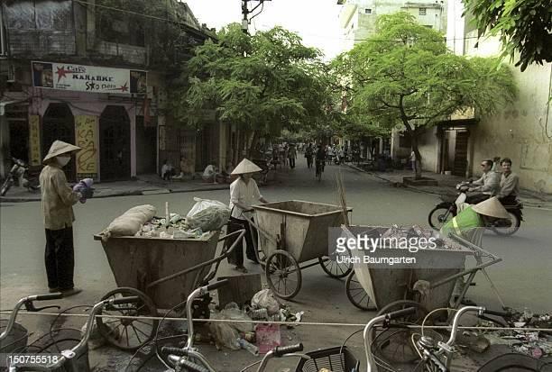 Street scene in the Vietnamese capital Hanoi