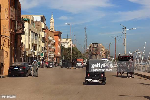 Street scene in town Esna Upper Egypt Africa