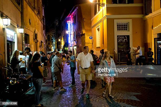 Street scene in Trastevere Rome Italy