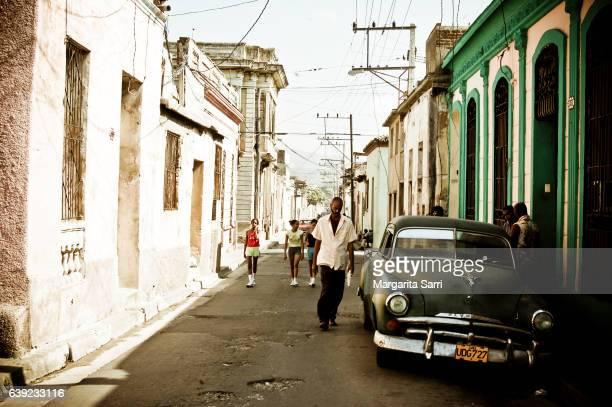 street scene in trinidad cuba - sarri stock pictures, royalty-free photos & images
