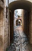 Street scene in Trogir old town, Croatia