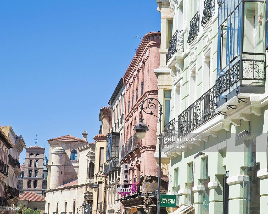Street Scene, León, Spain : Stock Photo