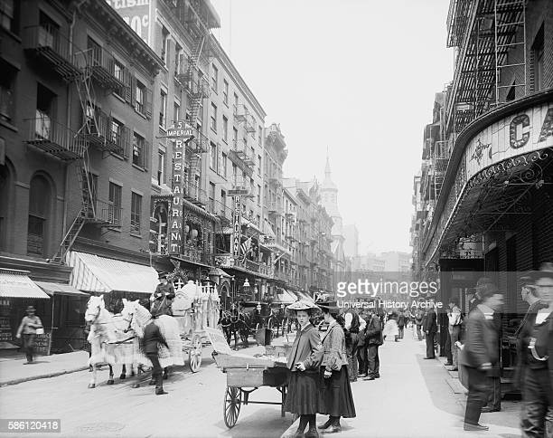 Street Scene Mott Street New York City USA circa 1905