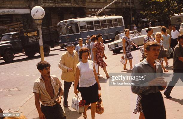 Street Scene Odessa c1970s Major seaport and transportation hub located on the northwestern shore of the Black Sea in the Ukraine the city of Odessa...