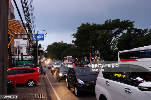 street scene of bandung, indonesia - bandung stock pictures, royalty-free photos & images