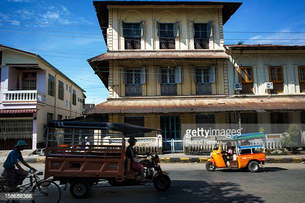 Street scene of daily life at a rather old building in Mawlamyine it was the first capital of British Burma in the 19th century It's the main city of...