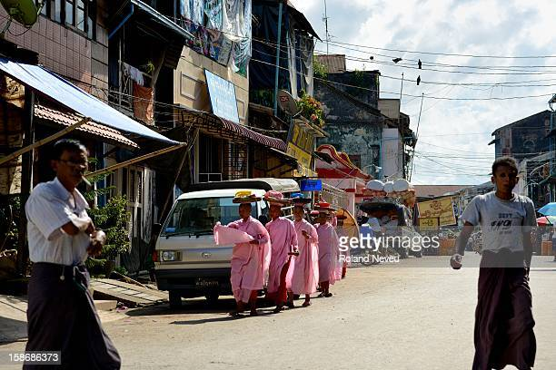 Street scene of daily life in Mawlamyine it was the first capital of British Burma in the 19th century It's the main city of the Mon State on the...