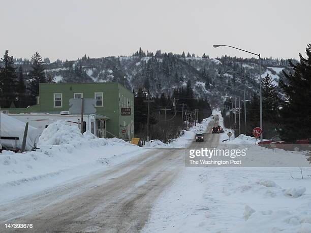 Street scene of Homer Alaska a 'quaint little drinking town with a fishing problem' taken March 1 2012 in Homer