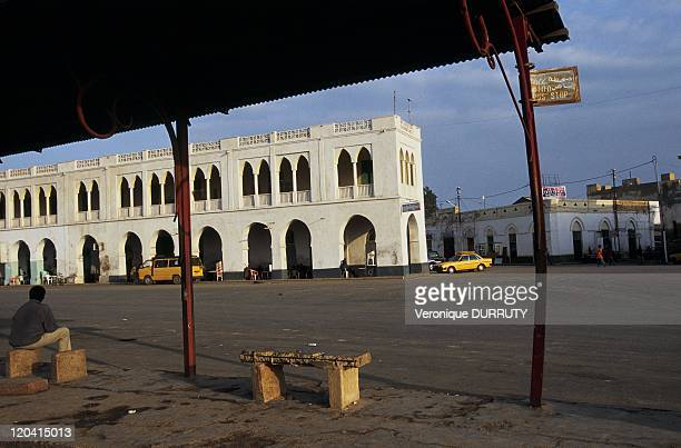 """Street scene of the town of Massawa in Eritrea - She was longtime the """"Pearl of the Red Sea. """" Mythical city ideally situated on the trade route..."""