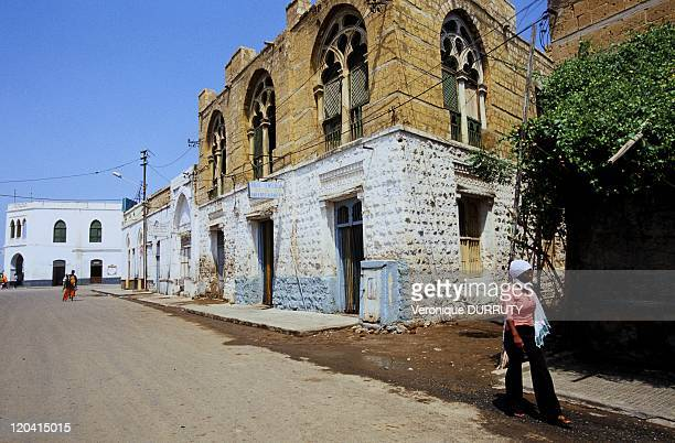 Street scene of the town of Massawa in Eritrea She was longtime the Pearl of the Red Sea Mythical city ideally situated on the trade route since...