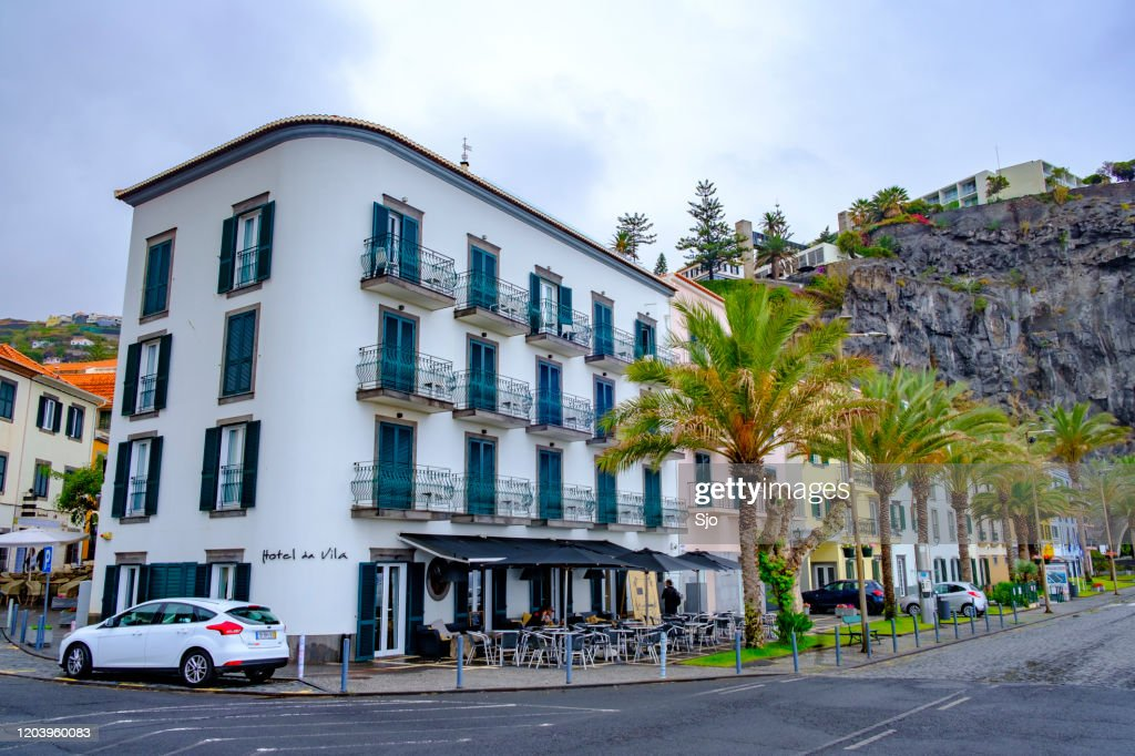 Street scene on Madeira island in the town of Ponta do Sol  on the South coast : Stock Photo