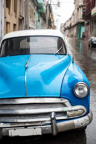 Street scene on rainy day in Havana,Cuba - gettyimageskorea